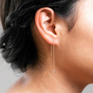 ball n chain threader earring