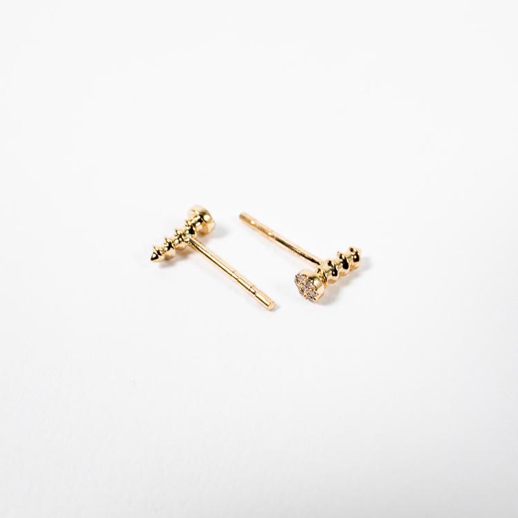 diamond screw earrings