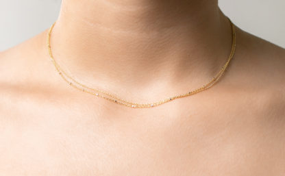 sprinkle double necklace